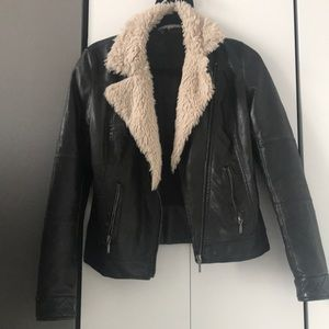 Zara distressed brown and tan jacket